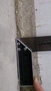 Порг балкона шов = 50мм.